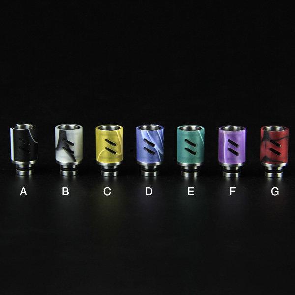 13 Стиль Череп из нержавеющей стали с широким отверстием 510 Эго наконечники для капель Pyrex Glass Metal Jade Stone Бирюзовый наконечник для капель Смола Керамический мундштук