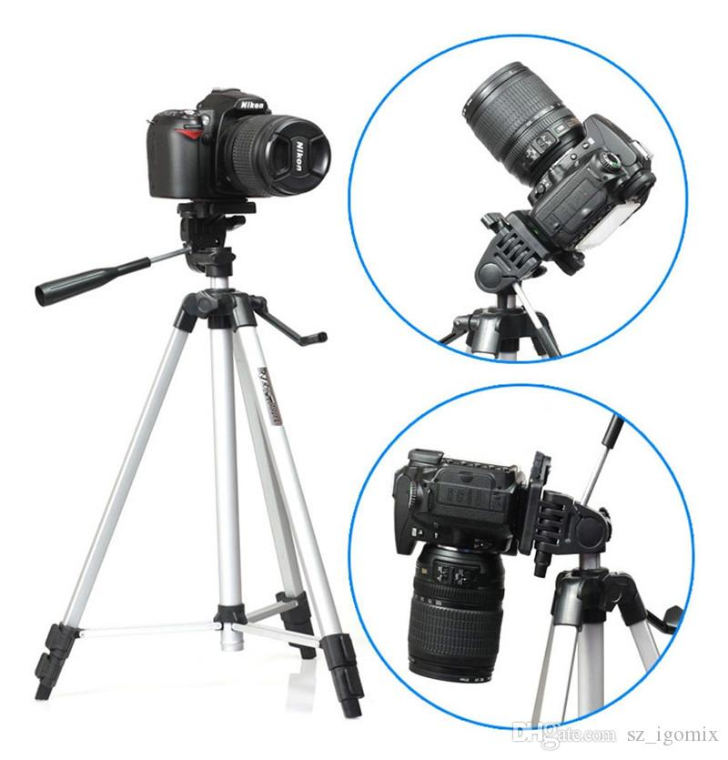Weifeng WT-330A Professional Tripod Stand Aluminum Camera Tripod for Canon Nikon Sony DSLR Camera Video Camcorder