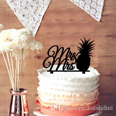 Unique Wedding Cake Topper Silhouette Pineapple Mr Mrs For Decor Party Favor Shower Favors Ideas