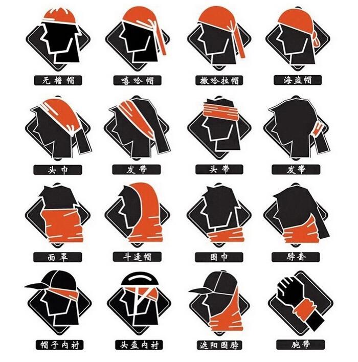 2016 Venta Caliente Nueva Bandanas Multifuncional Bufanda de Ciclismo Al Aire Libre Magia Turbante Banda de Pelo del Protector Solar envío Gratis 1-libre elegir