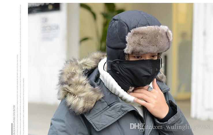Cappello invernale da trapper caldo Cuffie con paraorecchie Bomber Cappuccio in pelliccia sintetica Unisex Tappi da trapper a prova di manto Cappellino da neve Cappello russo MOQ 20 pezzi