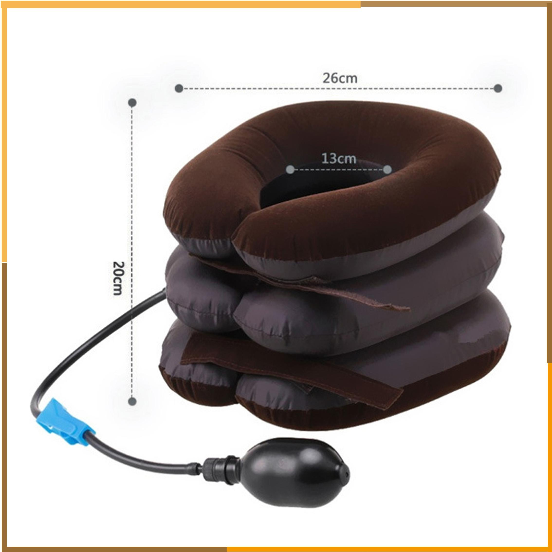 High Quality Air Cervical Neck Traction Soft Brace Device Unit for Headache Head Back Shoulder Neck Pain Health Care by DHl free