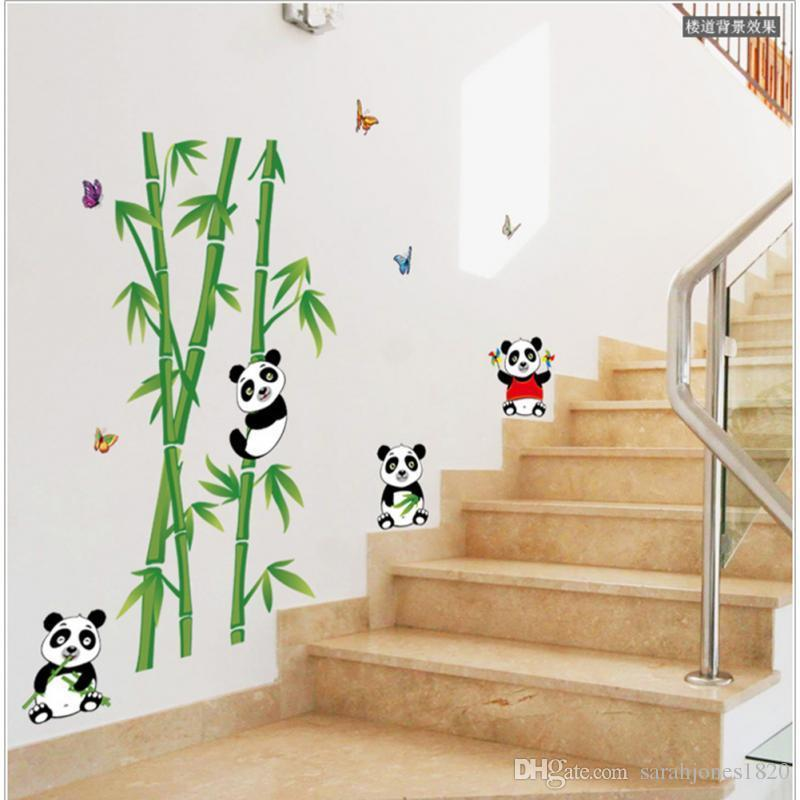 Wall Sticker Decor wallmates home decor mural vinyl wall sticker removable cute panda