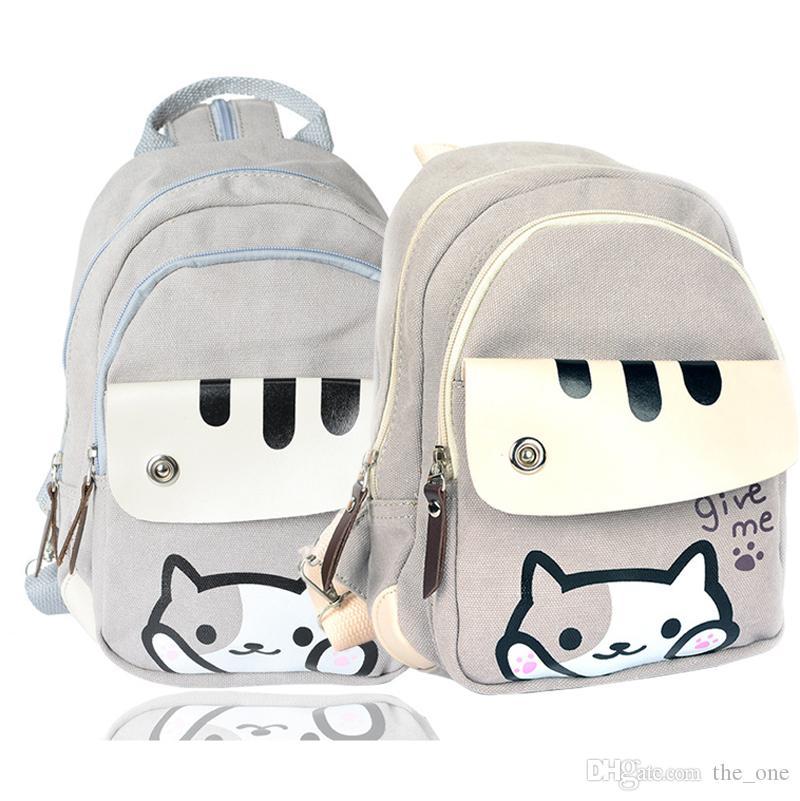 Cute Japanese Game Neko Atsume Cat Backyard Printing Backpack ...