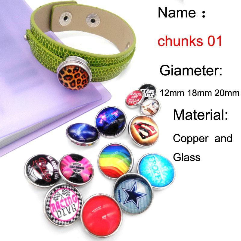 48 unids / lote playa de las estrellas de mar de cristal botón a presión de la joyería de lujo de la parte inferior de ajuste jengibre encaje collar relojes mujeres GS2577 fabricación de joyas