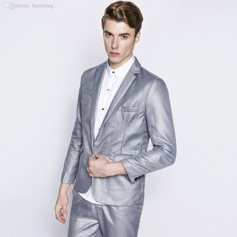 83eb4c072e8fb Wholesale-Men Suits A Buckle Clothes Brand Jacket Man Dressed ...