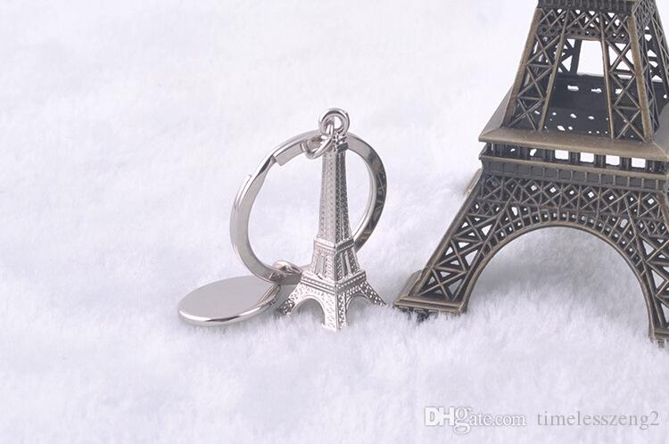 3D المعادن محاكاة برج ايفل سلسلة المفاتيح الفرنسية باريس تذكارية سلسلة المفاتيح مفتاح سلسلة مفتاح حامل الشحن حلقة مفاتيح مجاني من قبل شركة دي إتش إل