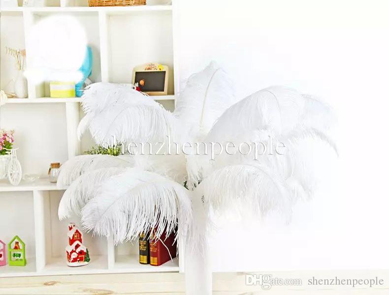 es bricolaje plumas de avestruz Plume Centerpiece para el banquete de boda Decoración de la mesa Decoraciones de la boda 2015 venta caliente 20-25 CM