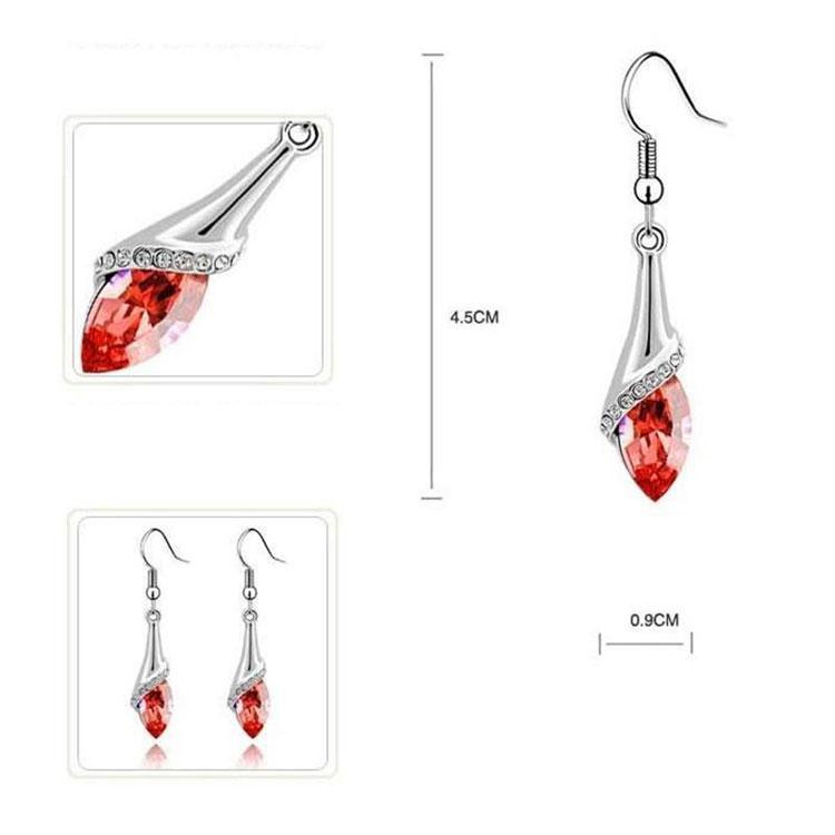 Gli orecchini di cristallo austriaci Nuovi monili di marca di modo comerciano i monili austriaci degli occhi di angelo dell'orecchino di goccia dell'acqua di cristallo austriaco Trasporto libero