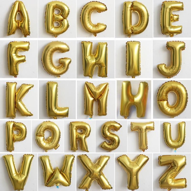 Decorative Aluminum Letters Aluminum Foil Balloons English Letters Children Kid Christmas