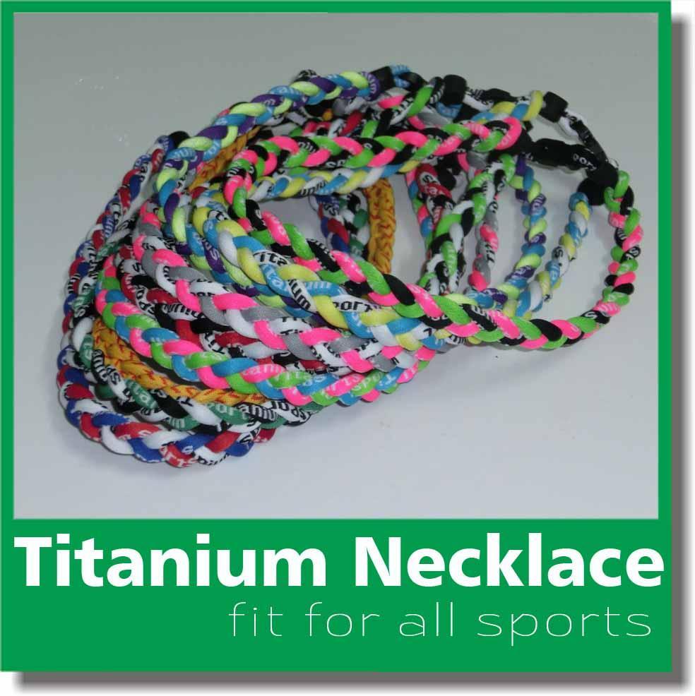 2017 Titanium Sports USA Baseball Tornado Twister Intrecciato 3 Corde Collane Misura colore squadra 16