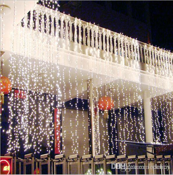 Bright Led Christmas Lights.2016 New Christmas Kitchen Curtains Light 10 4m 1280led Ultra Bright Led String For Holiday Decoration White Warm White With Adapter