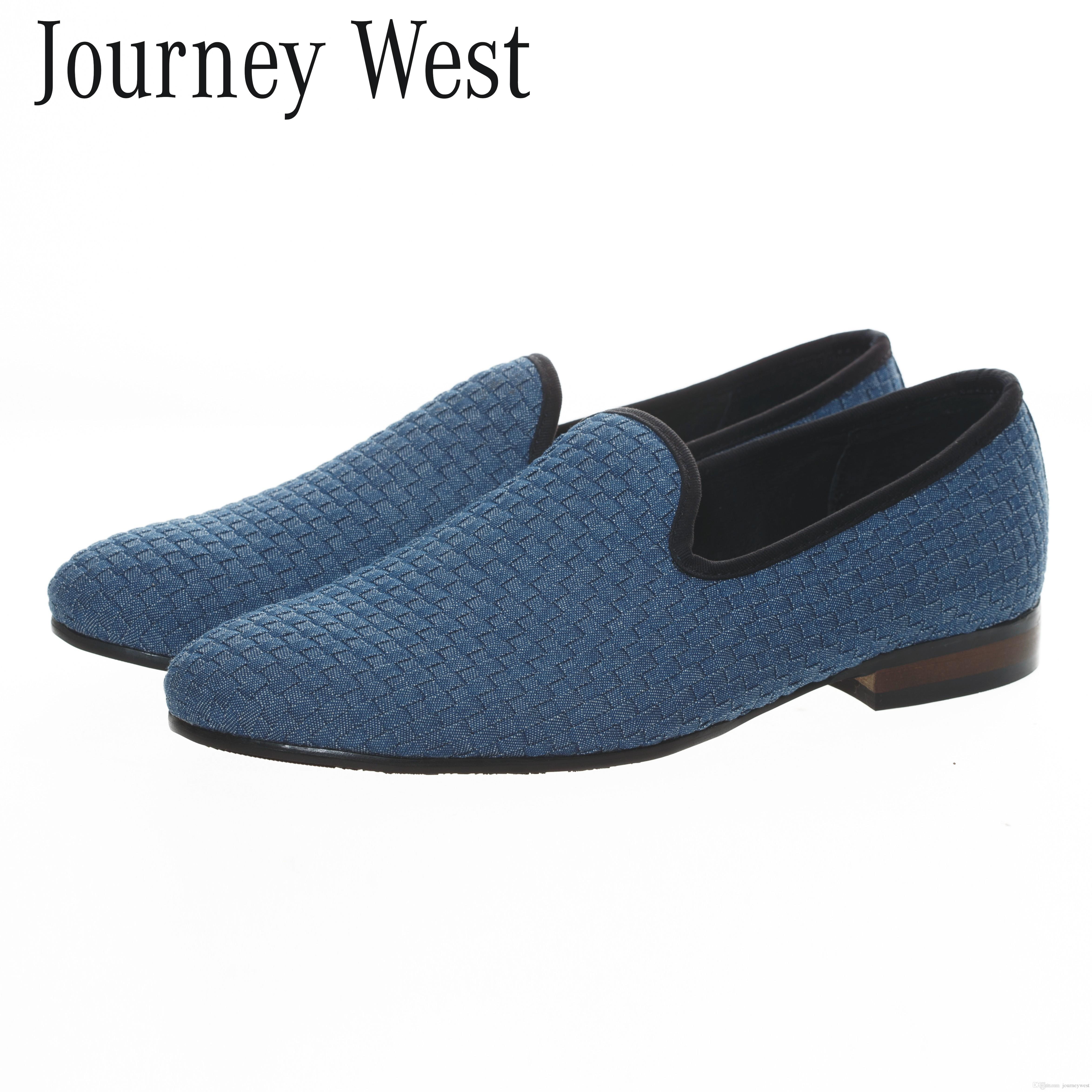 Handmade Men Blue Slippers Loafers Leather Woven Shoes Slip On Mens D Island Mocasine Casual Black Flats 2016 Fashion Designer Plus Size Us7 13 Indoor Soccer Oxford