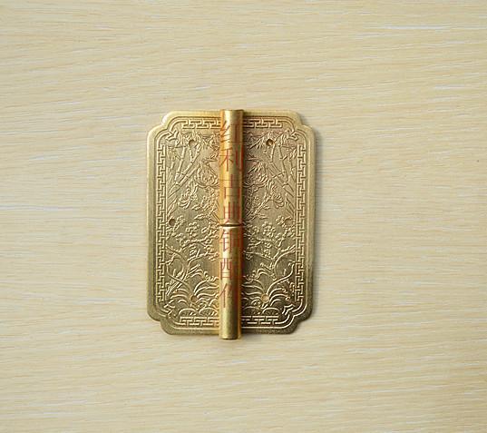 [bonus] raccordi rame / rame antichi di mobili classici accessori / cerniera a cerniera intagliata / libreria 8 cm