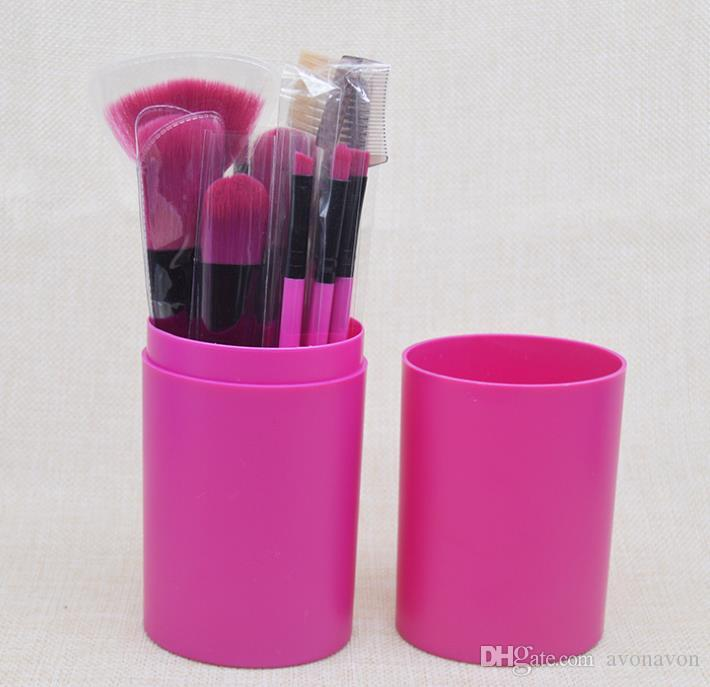HOT SALE Makeup Brush Set+Cup Holder Professional Makeup Brushes Set Cosmetic Brushes With Cylinder Cup Holder