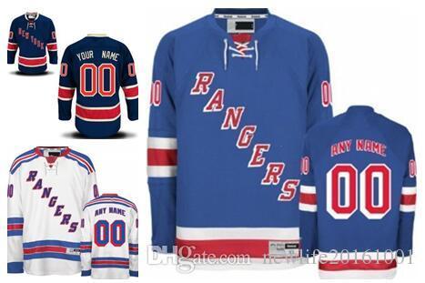 71e0cd778 2019 Personalized New York Rangers Custom Mens Womens Youth Ice Hockey  Cheap Jerseys Customized Home Light Blue Away White Navy Blue Third S