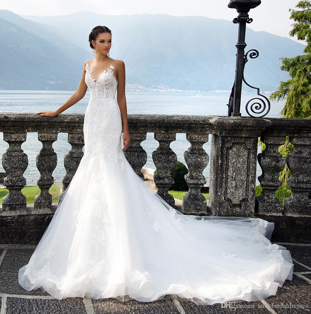 2018 New Designer Vintage Wedding Dress Gown Mermaid Vestido De ...