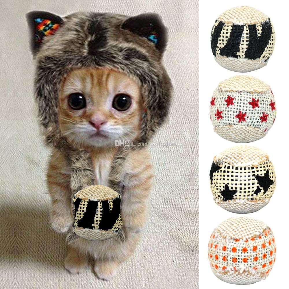 Cat Ball Toy Interactive Cat Toys Play Chewing Rattle Scratch Catch Pet Kitten Cat Exrecise Toy Balls