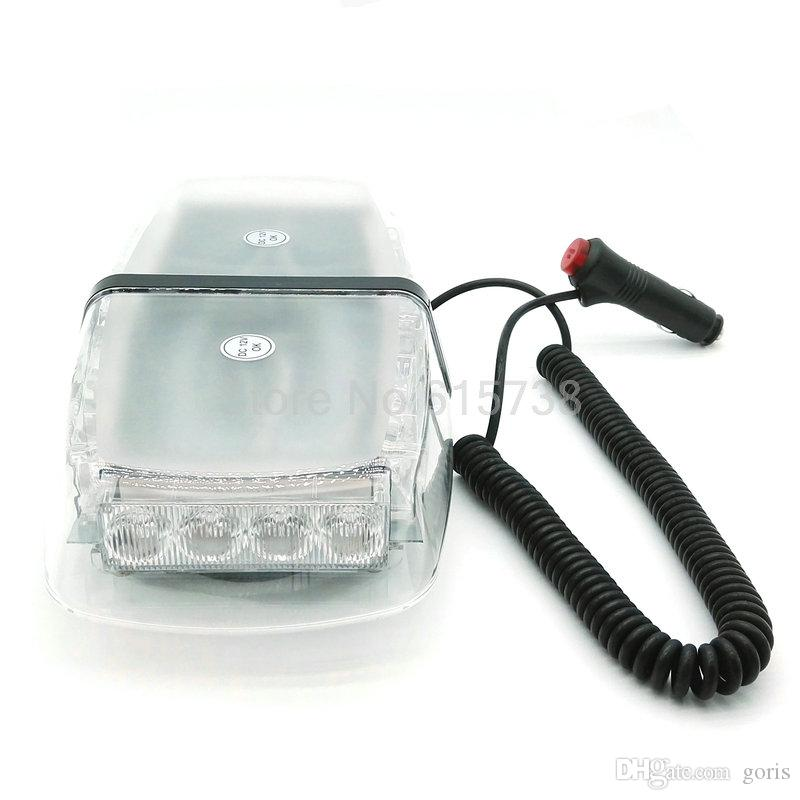 240LED DC 12V 240 LED Caution Police beacon light With Magnetic Holder LED Car Roof Flashing Strobe Emergency Light