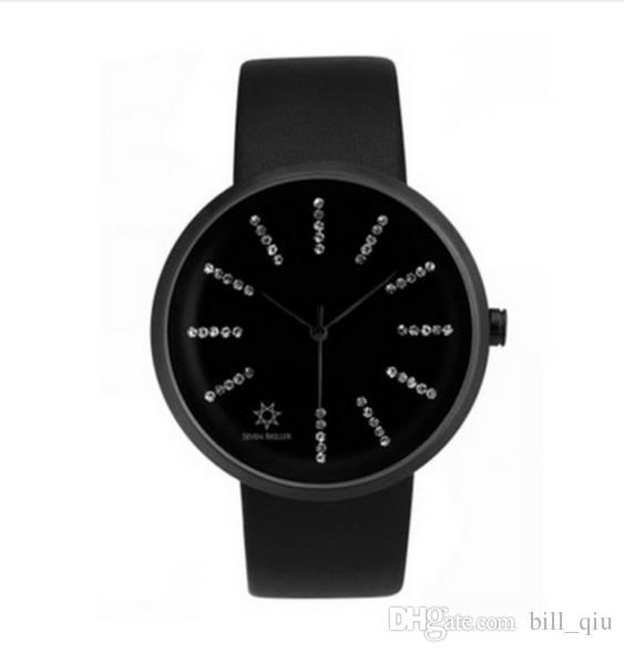 Contatore genuino BRILLER SEVEN Orologio da donna tendenza moda da donna impermeabile in pelle orologio al quarzo svizzero trapano