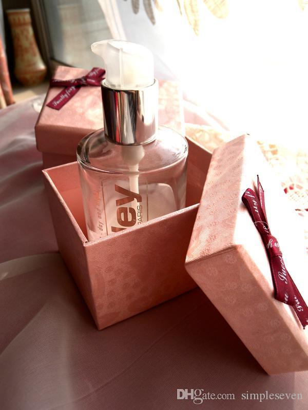 [Simple Siete] Rosa romántica caja de regalo para la joyería, pulsera de embalar con el azul del Bowknot, la caja del anillo de bodas, collar de regalo del paquete