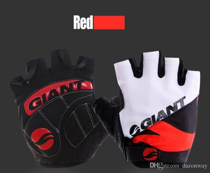 Riesige halbe Finger Männer Frauen Radfahren Handschuhe Slip für MTB Fahrrad / Fahrrad Guantes Sommer atmungsaktiv Ciclismo Racing Luvas Sport