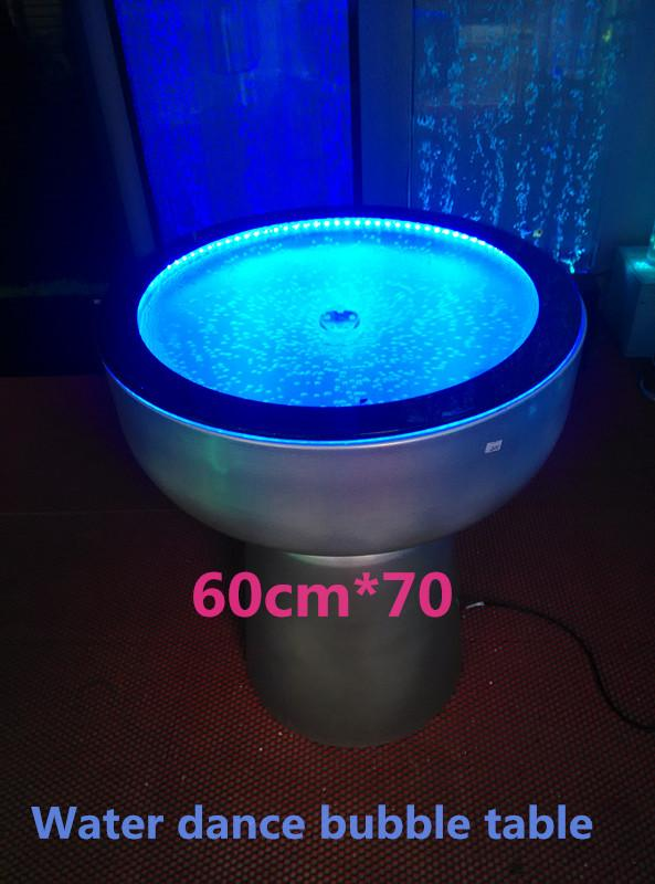High Quality 2018 Table Water Dance Bubble, Led Table, Stainless Steel, Water Dance  Bubble Screen, Big Sea Aquarium Screen Round Table Led Bubble, Feng Shui B  From ...