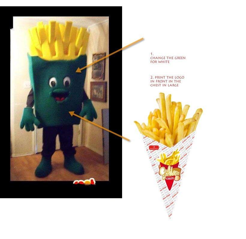 Product Description  sc 1 st  DHgate.com & Customized French Fries Mascot Costume +Logo Fancy Dress Halloween ...