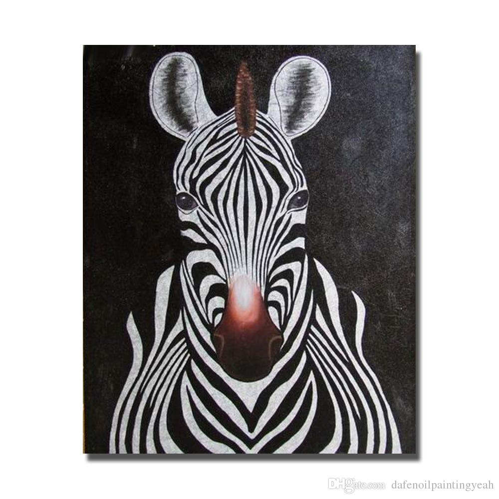 2019 Abstract Zebra Painting Sitting Room Decoration Hand ...