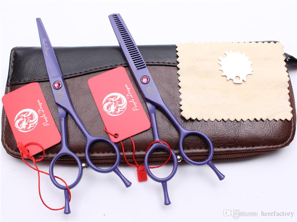 "Z1012 5.5"" Japan Purple Dragon Professional Human Hair Scissors Barber's Hairdressing Scissors Cutting Thinning Shears Salon Styling Tools"