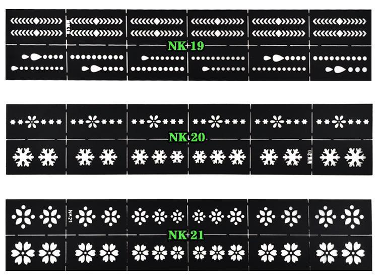 Einfache wiederverwendbare Stempel-Werkzeug DIY ausgehöhlt Arbeit Nail Art Template Aufkleber Stempel Schablone Guide