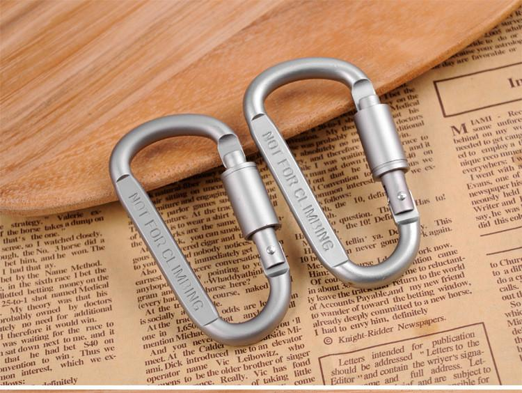 Carabiner Durable Climbing Hook Aluminum Hook Buckle Padlock for Climbing Outdoors Gear Gadgets Hang up Bottle Multi-function Fast Shipping