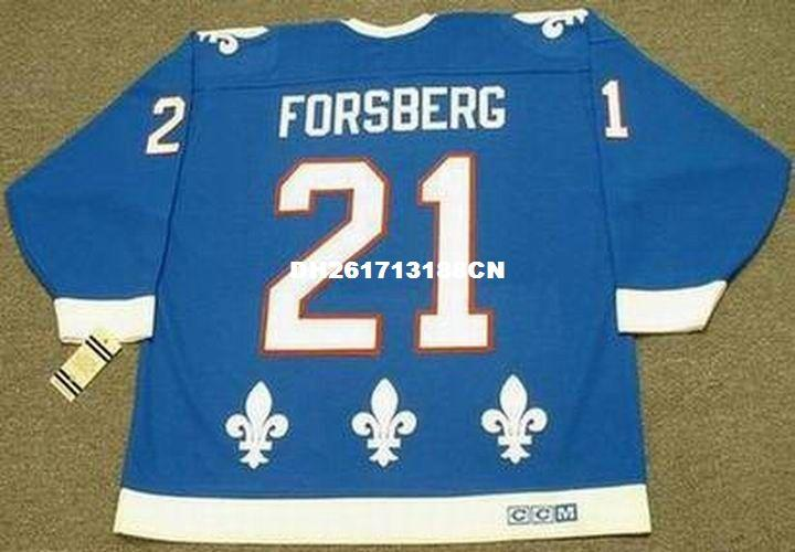 ... Cheap custom retro PETER FORSBERG Quebec Nordiques 1994 CCM Vintage  Away Jerseys Throwback Mens stitched Hockey ... 2301551f8