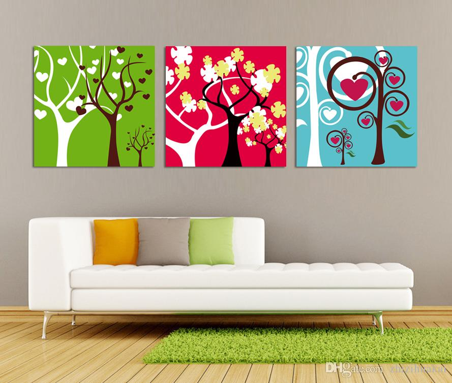 no frame Home decoration Canvas Prints Yellow maple leaf Abstract tree Cartoon potted flower Brooklyn Bridge Coffee