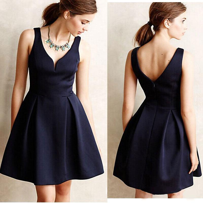 Women Casual Dresses 2016 Stylish A Line Sleeveless Solid Color ...