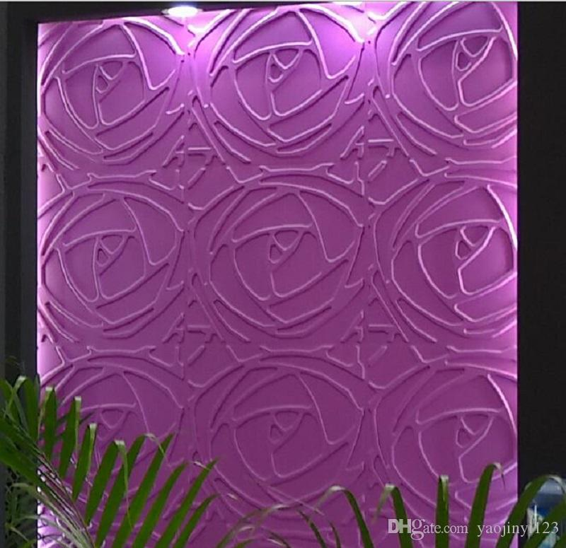 3d sticker pvc nature 3d wall panels househould art decorative wall panel embossed rose design