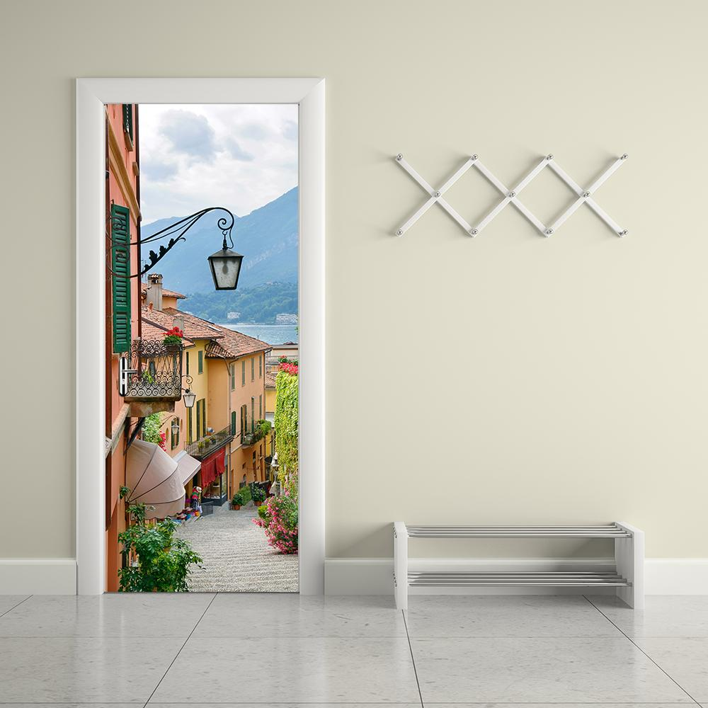 Wohnzimmer Tür, großhandel kreative diy 3d tür wandaufkleber alten stadt wohnzimmer, Design ideen