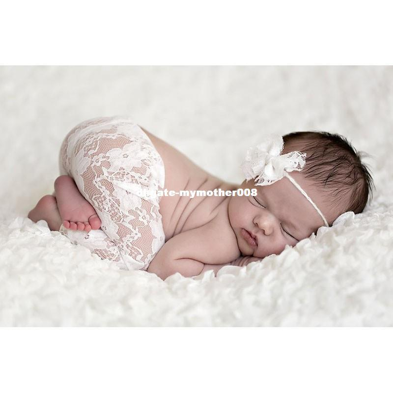 Online cheap new top sale newborn photography props studio shoots newborn lace headbands and pants set 4 10m infant costume outfit by mymother008 dhgate