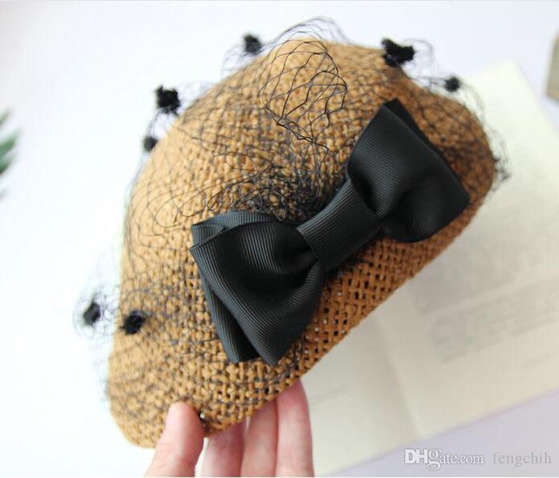 Cztery kolory Gossip Beetle Berech kapelusz wiosna kapelusze kurczaka Cute bowknot leisure podróży cieni kotów