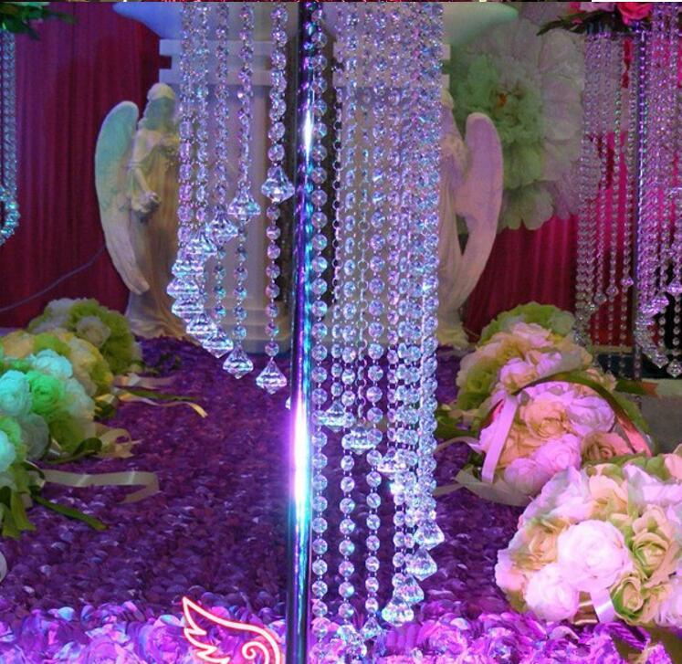 Commercio all'ingrosso migliore vendita centrotavola di nozze decorazione di cerimonia nuziale acrilico lampadario di cristallo matrimonio strada piombo evento decorazione del partito