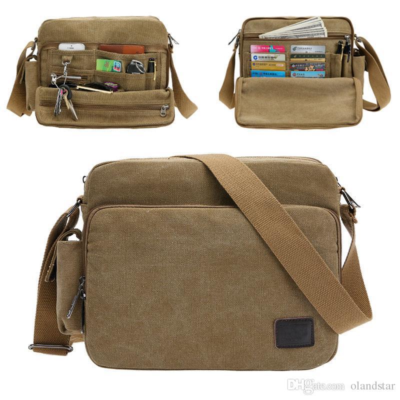 574d2401b927 Retro Casual Multifunction Crossbody Bag Canvas Men Shoulder Purse Travel  Bags Man Handbag Sling Bag MCB014 Mens Leather Bags Laptop Messenger Bags  From ...