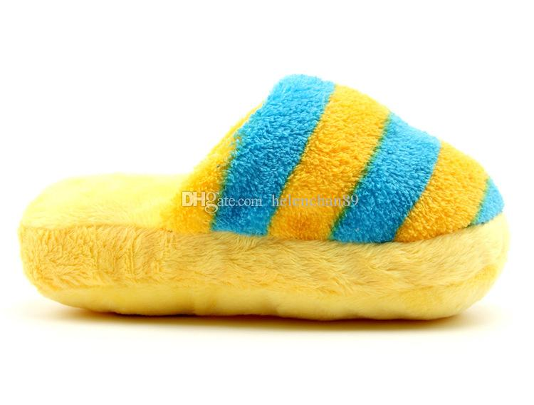 Squeak Stripe Slipper Wholesale Pet Dog Toys Dog Cat chew Toy Stuffed For Small Medium Large Pets Drop Shipping /