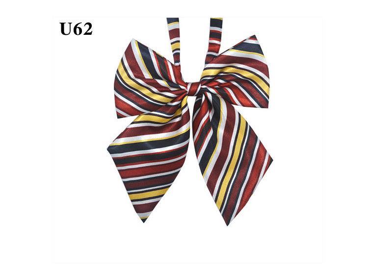 Verstelbare Boogdas Halsbloem Cravat Neckwear Dot Striped Adult Vrouwen Student Girl Avond Party Cosplay Accessoire