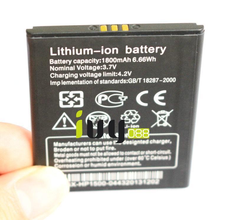 100 قطعة / الوحدة 100٪ الأصلي 1800 مللي أمبير بطارية ليثيوم أيون ل thl w100 w100s بطاريات الهاتف الذكي batteria batterij