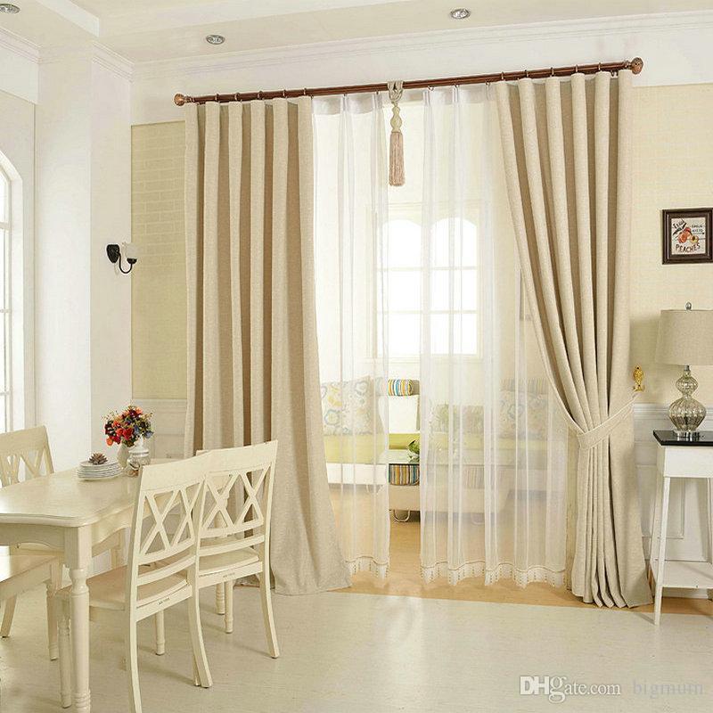 솔리드 컬러 리넨 커튼 무료 일치 거실을위한 통기성 환경 보호 침실 린넨 얇은 명주 그물 장식