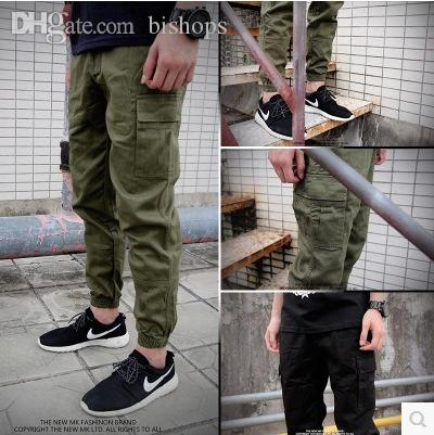 2019 Wholesale Mens Joggers 2016 New Skinny Men Pants Army Green Hip