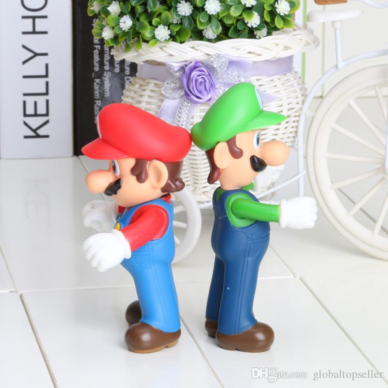 4 styles 5inch 12cm Super Mario Bros Luigi Mario PVC Action Figures Toys Doll