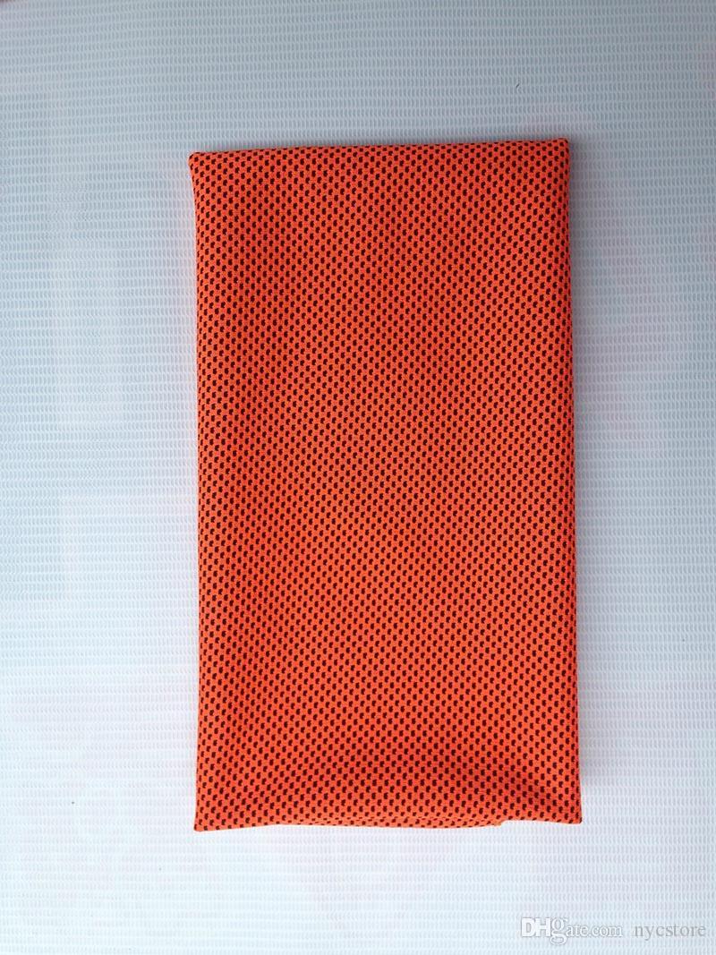Rendimiento de refrigeración Toalla 90X35 cm Deportes al aire libre Hielo frío Bufanda Cuello corbata Muñequera Diadema Summer Beach Necesidad Suministros Enfriamiento de regalos
