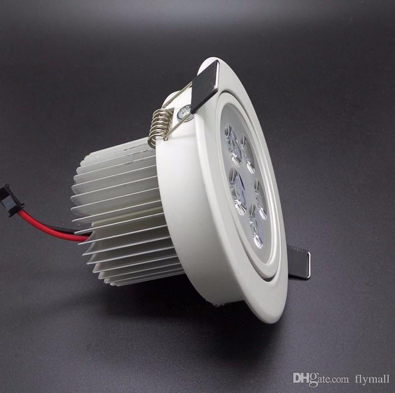 Le blanc / argent 9V 12W 15W 21W de Dimmable a mené vers le bas la puissance élevée de lumières menée à CA 110-240V de plafonniers enfoncés par Downlights avec le bloc d'alimentation