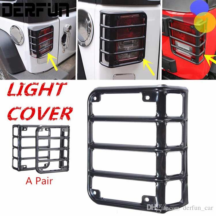 High Quality For Jeep Wrangler Tail Light Covers 2007 2016 Black Metal Tail Lights Guards  Wrangler Tail Light Guards Action Auto Accessories Action Auto Parts From  ...